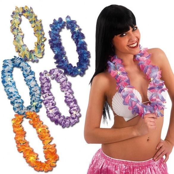 Collier de fleurs hawai led