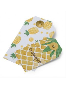 10 étiquettes ananas et tropique