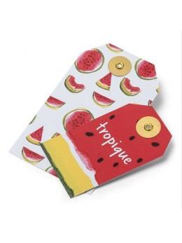 10 étiquettes pastèque et tropique