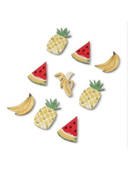 9 Stickers fruits exotiques