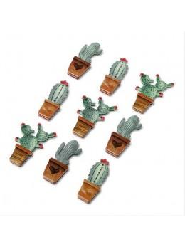 9 Stickers cactus assortis