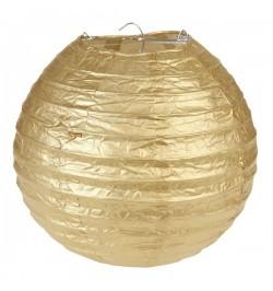 2 Lampions décoratif or 20 cm