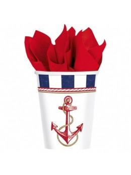 8 gobelets thème marin