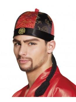 chapeau chinois avec tresse