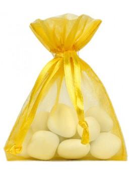 10 Sachets organdi jaune