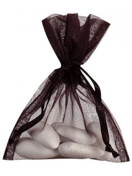10 Sachets organdi noir