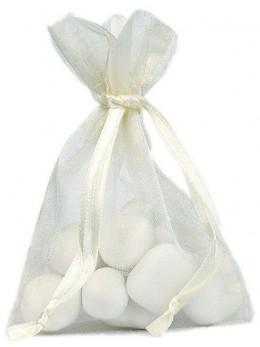 10 Sachets organdi ivoire