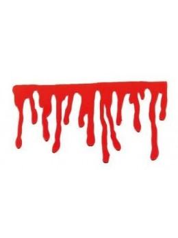 Déco fenêtre gel coulures de sang