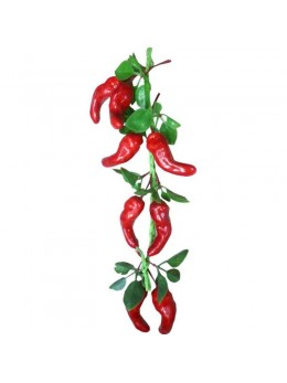 Déco tresse de 8 piments rouges