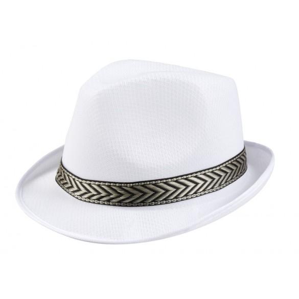 Chapeau Tony polyester blanc
