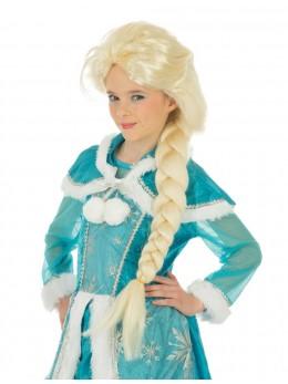Perruque Reine des glaces enfant