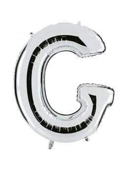 Ballon lettre G argent