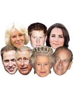 Pack 7 Masques famille royale Royaume Uni