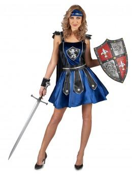 Déguisement guerrière médiévale bleue