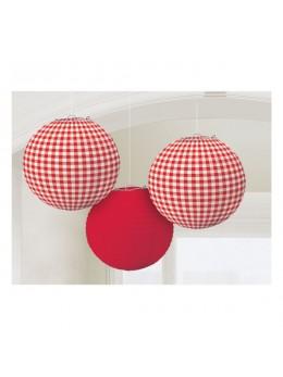 3 Lampions ballon thème pique nique