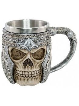 Mug chevalier résine et métal