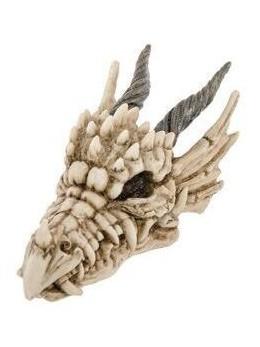 Déco tête de dragon résine 13.5cm