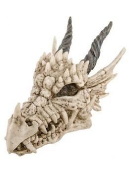Déco tête de dragon résine 19.5cm