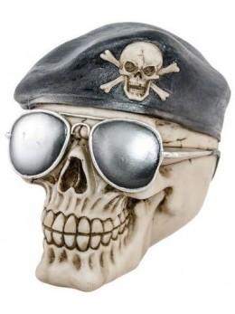 Crane tête de mort béret de pirate 15cm