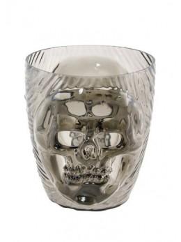 verre skull translucide 15cm