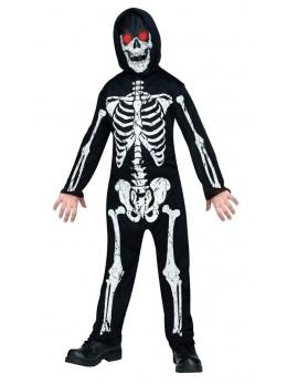 déguisement enfant squelette yeux lumineux