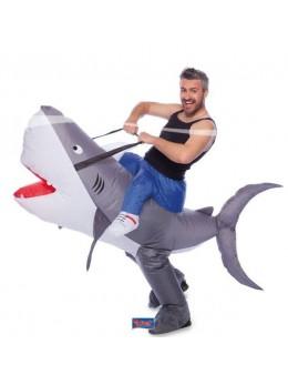 Déguisement requin gonflable