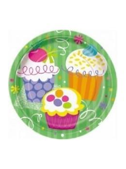 8 assiettes Cup cake 23cm