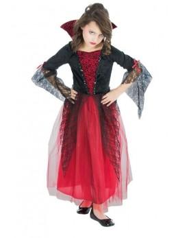 Déguisement vampiresse noir et rouge