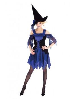 Déguisement sorcière bleu