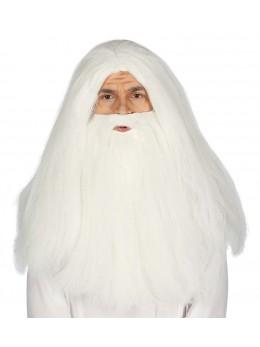 perruque et barbe de mage