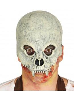 Masque visage latex squelette