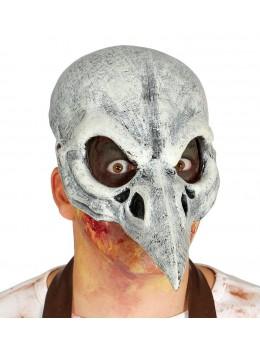 Masque visage latex squelette d'oiseau