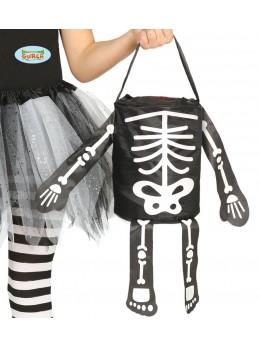 "Sac à bonbon squelette ""trick or treat"""