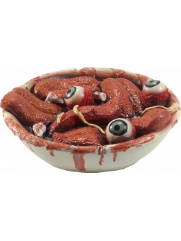 Déco bol avec langues coupées