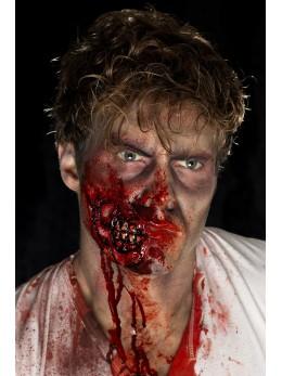 Maquillage cicatrice joue de zombie