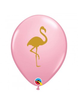 10 Ballons flamand rose