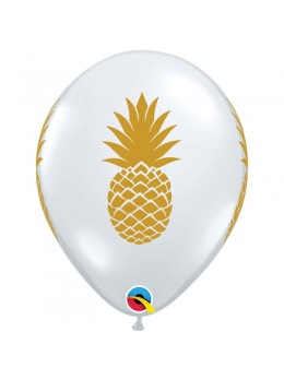 10 Ballons transparent ananas or 30cm