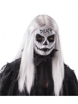 """Masque plastique blanc """"death"""""""