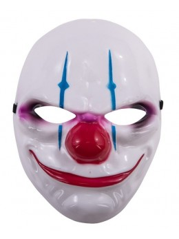 Masque plastique de clown méchant