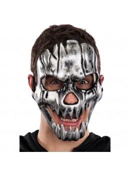 Masque de squelette argent