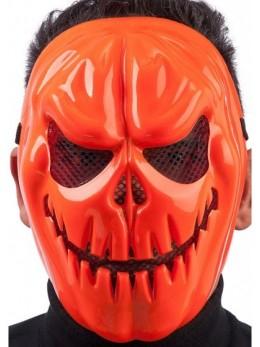 Masque plastique méchante citrouille