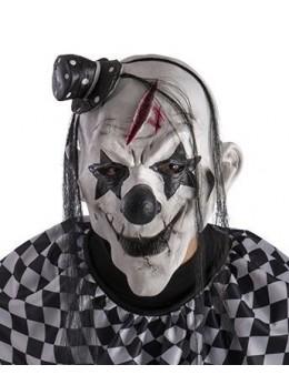 Masque de clown blanc maléfique latex