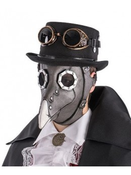 Masque latex corbeau steampunk