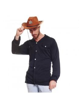chapeau cowboy marron