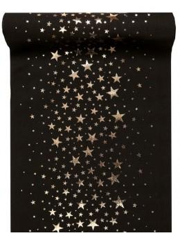 Chemin de table étoile noir
