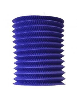 12 Lampions cylindriques bleu 13cm