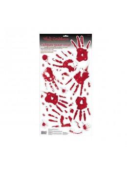 Plaque empreintes mains sanglantes