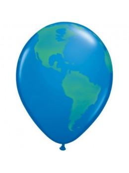 10 Ballons mappemonde 30cm