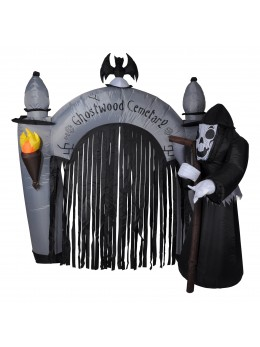 Décor arche d'Halloween gonflable 2m40
