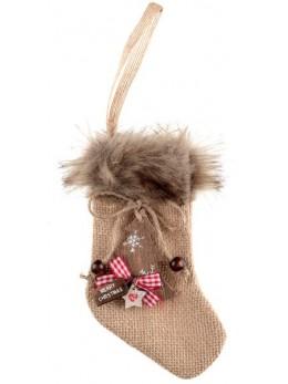 Chaussette de Noël fourrure